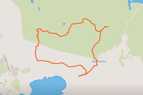 Strava rode route Molkom